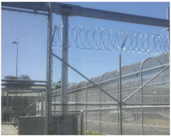 Industrial Barbed Wire Fencing