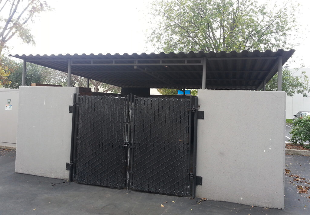 commercial storage and trash area covers
